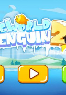 Adventures in Ice World 2 - Runing and Fishing Penguin