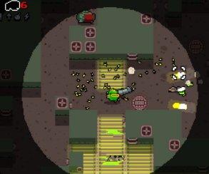 В трейлере Nuclear Throne мутантов убивают лопатой
