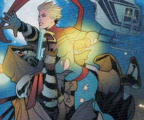 Капитан Марвел встретилась с искусственным Тони Старком