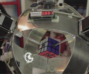 Война машин: робот побил рекорд сборки кубика Рубика на 0,013 секунд