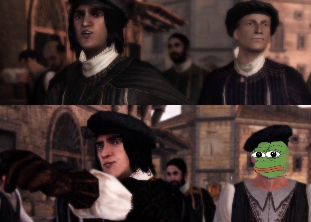 Лучшие шутки о баге с лицом персонажа в ремастере Assassin's Creed 2. - Изображение 5