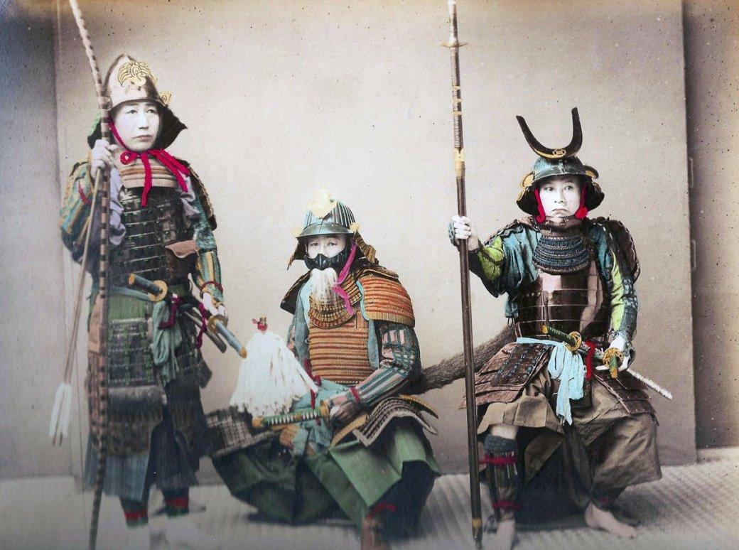 Настоящие самураи и необычные костюмы на редких старых фотографиях - Изображение 1