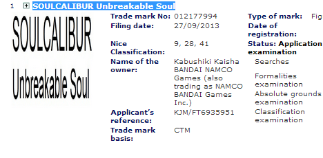 Зарегистрирована торговая марка Soul Calibur: Unbreakable Sword - Изображение 1