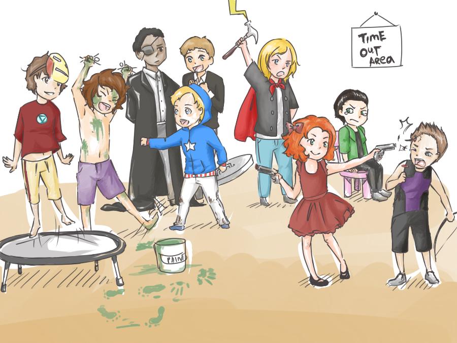 Галерея вариаций: Мстители-женщины, Мстители-дети... - Изображение 139
