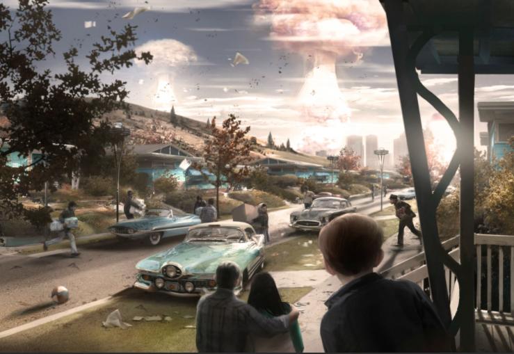 Женщина, собака и пулемет на борту в новом арте и скринах Fallout 4 - Изображение 2