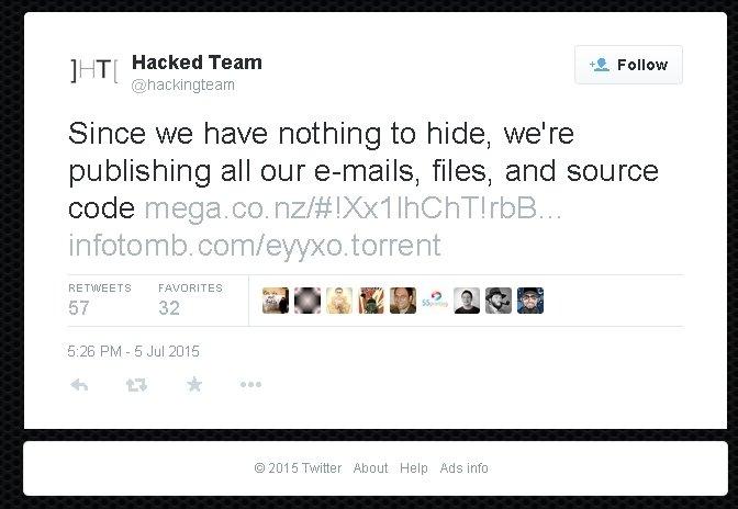Взлом хакеров: Hacking Team умоляет клиентов отключить шпионский софт - Изображение 1