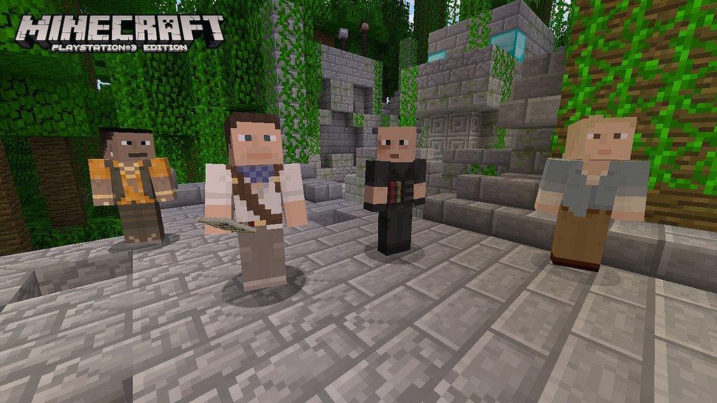 Mojang переселила в Minecraft Натана Дрейка и других героев игр Sony  - Изображение 1