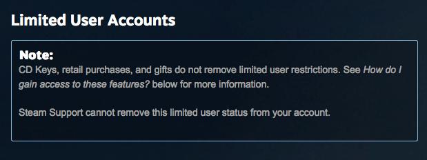 Steam ограничила функции сервиса для игроков, заплативших меньше $5 - Изображение 1