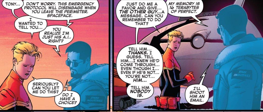 Капитан Марвел встретилась с искусственным Тони Старком. - Изображение 4