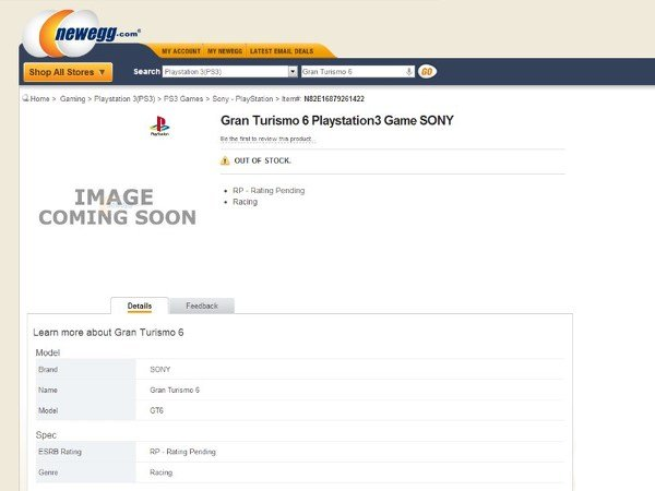 Gran Turismo 6 появилась в списках интернет-магазинов - Изображение 1
