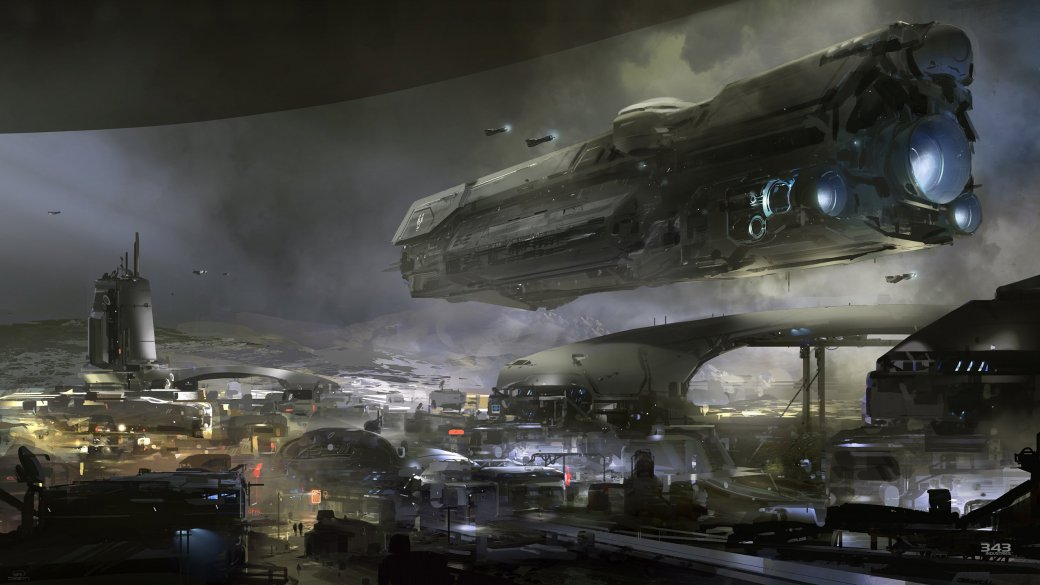343 Industries поделилась концепт-артом Halo 5 - Изображение 1