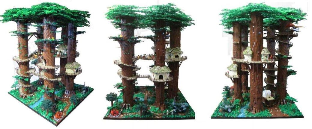 Фанат Star Wars построил собственную деревню эвоков. - Изображение 1