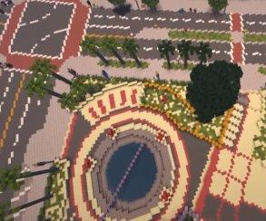 Энтузиасты создали полноразмерную копию города из GTA V в Minecraft