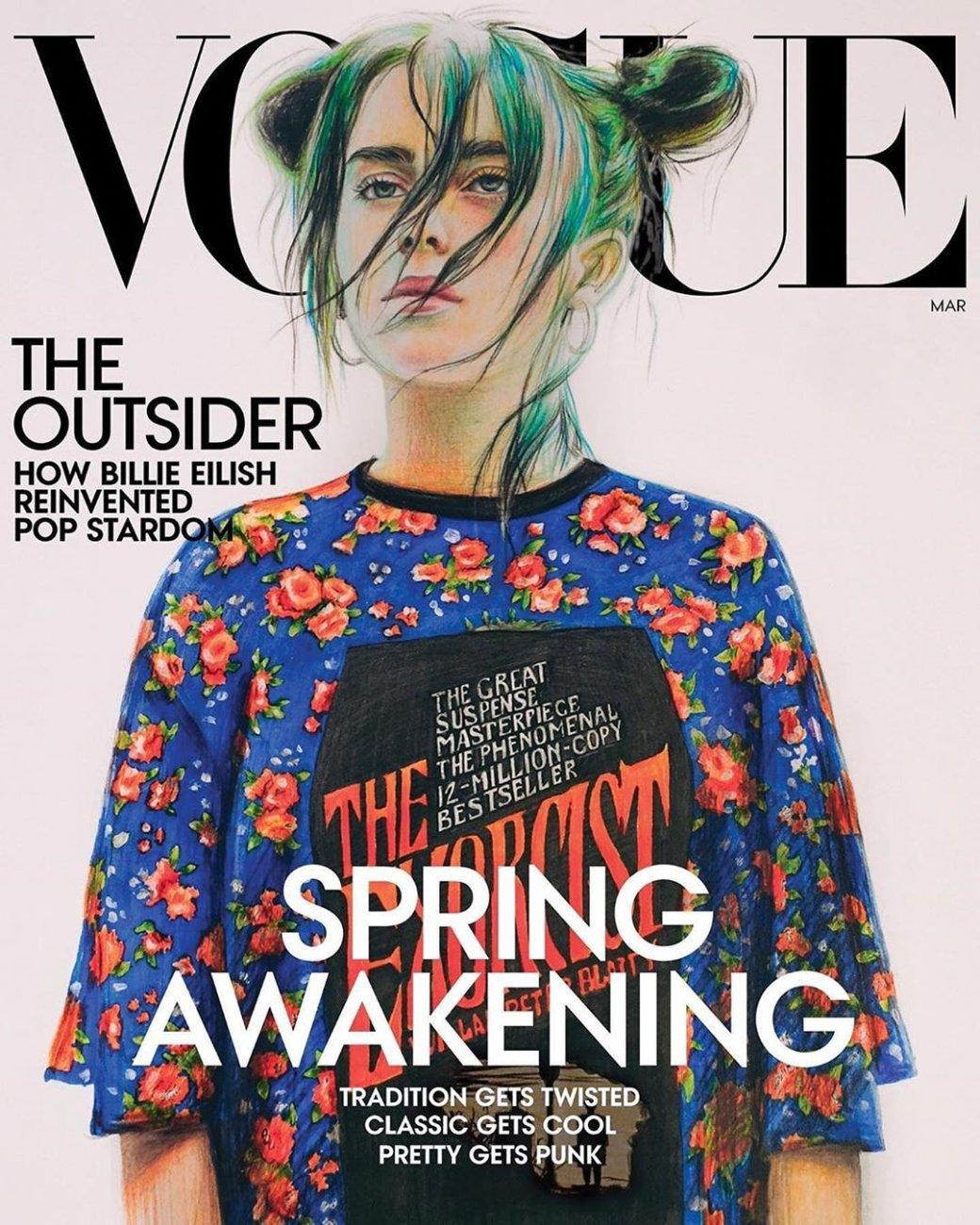 Российская школьница нарисовала Билли Айлиш для американского журнала Vogue   Канобу - Изображение 0