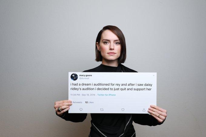 Актеры девятого эпизода «Звездных войн» сфотографировались с твитами фанатов   Канобу - Изображение 0