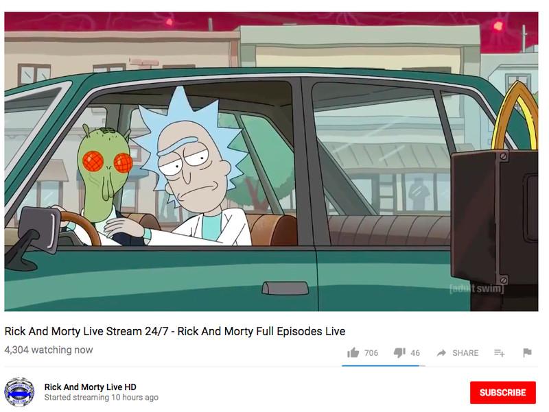 Почему на YouTube не блокируют стримы с показом «Рика и Морти». - Изображение 1
