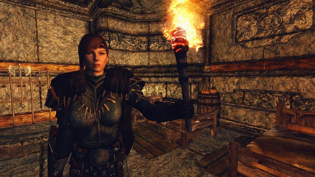 Игрок смог пройти The Elder Scrolls V: Skyrim с одним только факелом в качестве оружия