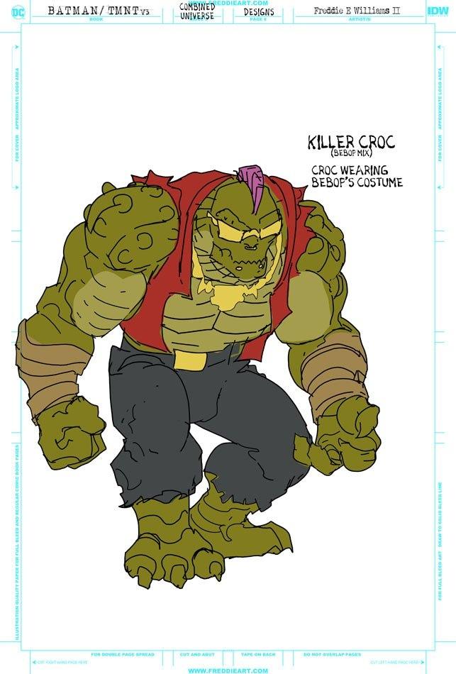 Втретьем кроссовере Черепашек-ниндзя иБэтмена появятся гибриды героев. Например, Найтвинг-Леонардо   Канобу - Изображение 7264
