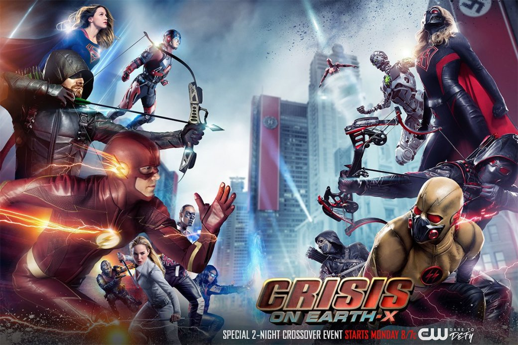 «Кризис наЗемле-Икс»: стоитли смотреть кроссовер CW, вкотором супергерои сражаются снацистами? | Канобу