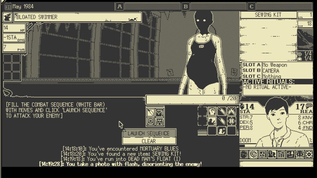 Обзор World ofHorror (2020) из Steam, рецензия, мнение, отсылки к Дзюндзи Ито и Лавкрафту   Канобу - Изображение 8082