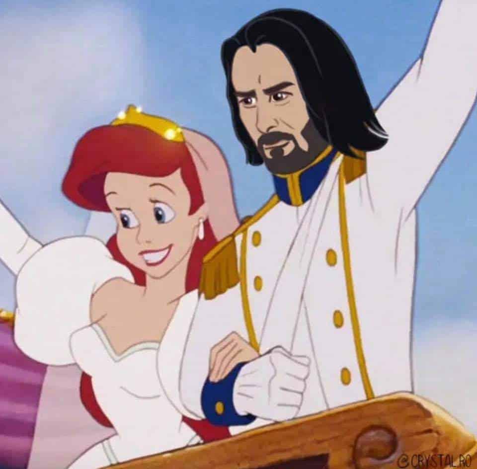 Киану Ривза нарисовали в образах Аладдина, Чудовища и других принцев из мультфильмов Disney  | Канобу - Изображение 6073