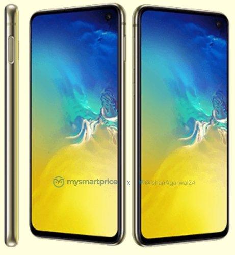 Ярко-желтый Samsung Galaxy S10e показался нановых рендерах | Канобу - Изображение 0
