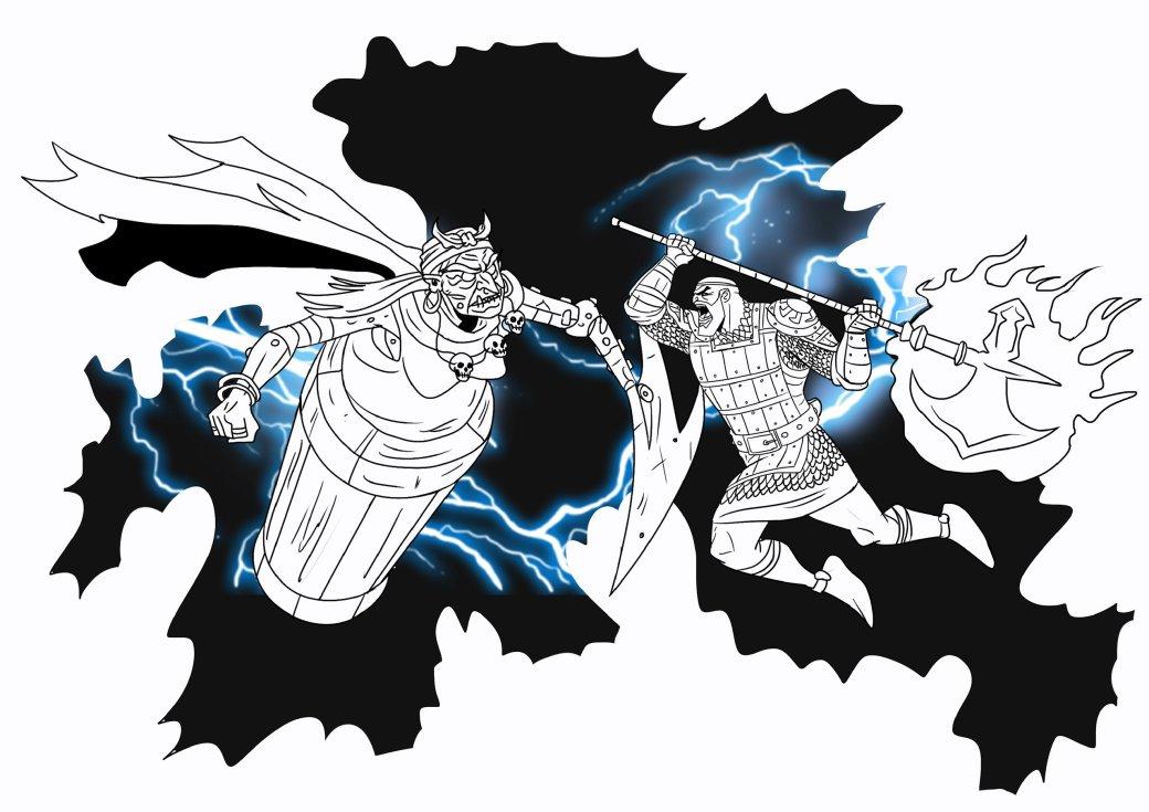 Кратос vsБаба-яга! Какбы выглядела God ofWar вславянской мифологии. - Изображение 7