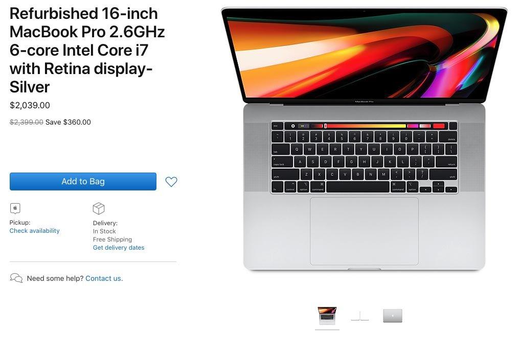 Apple начала продавать восстановленные 16-дюймовые MacBook Pro   Канобу - Изображение 0
