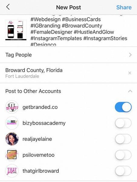 Instagram тестирует одновременную отправку контента сразу внесколько аккаунтов | Канобу - Изображение 2