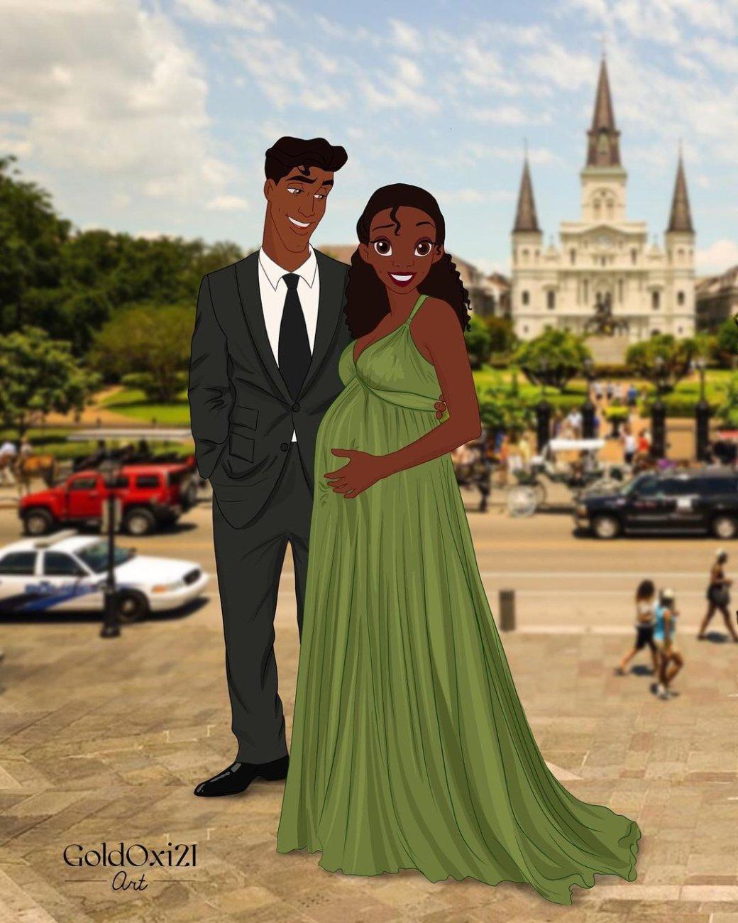 Российская художница изобразила беременных принцесс Disney | Канобу - Изображение 11174