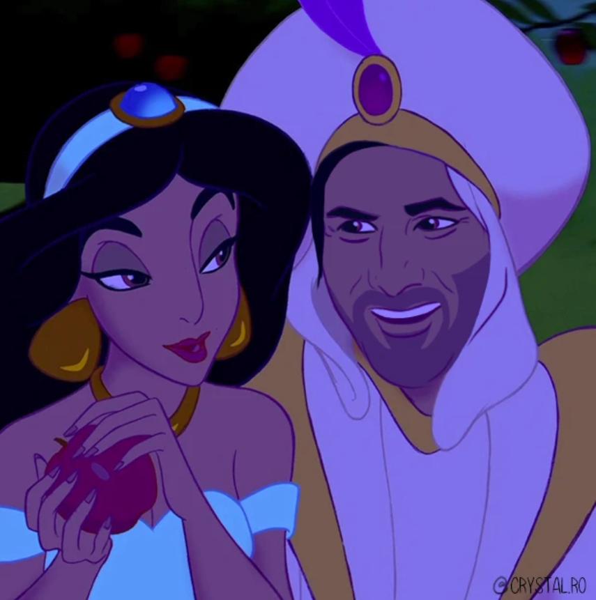 Киану Ривза нарисовали в образах Аладдина, Чудовища и других принцев из мультфильмов Disney  | Канобу - Изображение 6074