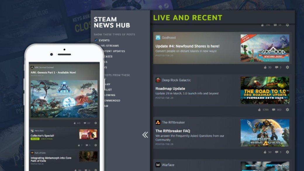 Steam продолжает эксперименты: Valve запустила новостной центр | Канобу - Изображение 10985