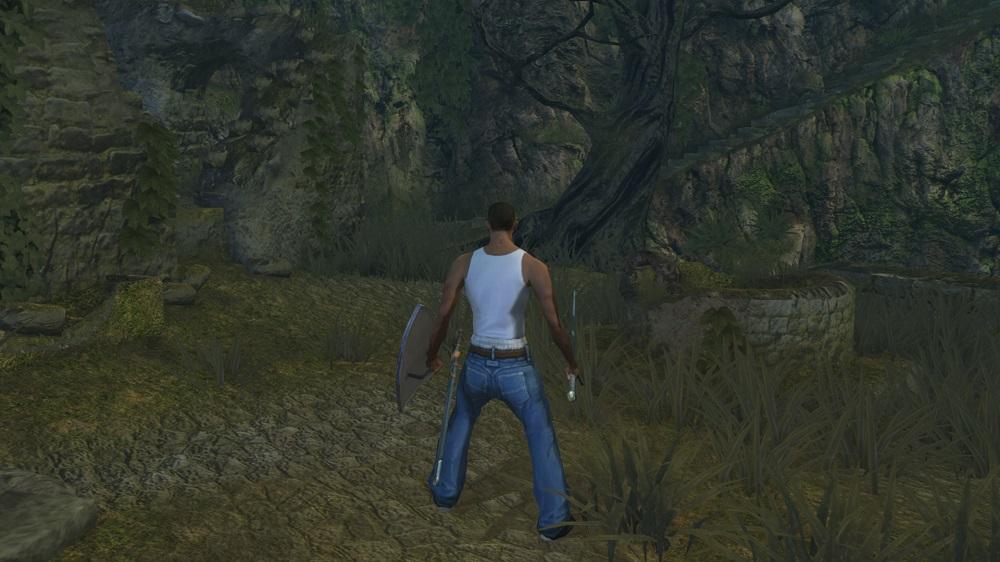 Восславьте Гроув-стрит! Энтузиаст добавил Си-Джея из San Andreas в Dark Souls | Канобу - Изображение 3