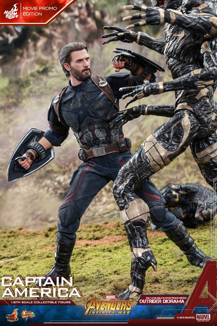 Взгляните нановую фигурку Капитана Америка из«Войны Бесконечности» отHot Toys. - Изображение 4